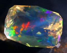 12.27Ct ContraLuz Fire Opal Precision Cut Ethiopian Very Rare Species A2510