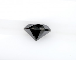 2.42 Ct. 8.2mm Loose Natural Jet Black Diamond Round Brilliant Solitaire