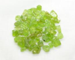 135 CT Top Green Peridot Crystals@ Pakistan