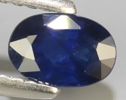 0.70 CTS AWESOME BLUE SAPPHIRE HEATED FACETED GENUINE