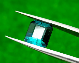 4.45CT BLUE INDICOLITE TOURAMALINE BEST QUALITY GEMSTONE IIGC16
