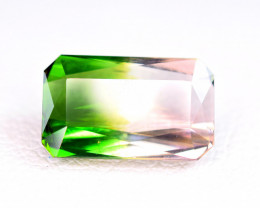 2.56 Carat Bi Tourmaline Eye Catching  Cut Gemstone