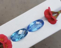 Blue Swiss Topaz 22 CTS Curve Gemstone