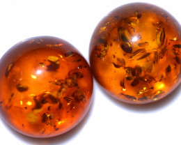 28 Cts 2 pcs Natural  Amber from Poland  code CCC2785