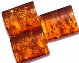 39 Cts 3 pcs Natural  Amber from Poland  code CCC2798