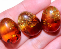 38 Cts 3 pcs Natural  Amber from Poland  code CCC2800
