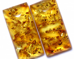 24 Cts Pair Natural  Amber from Poland  code CCC2809