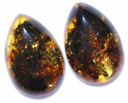 26 Cts Pair Natural  Amber from Poland  code CCC2813