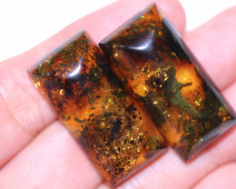 24 Cts Pair Natural  Amber from Poland  code CCC2817