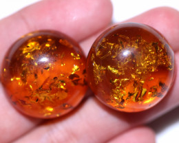 35 Cts Pair Natural  Amber from Poland  code CCC2822