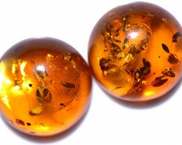 35 Cts Pair Natural  Amber from Poland  code CCC2826