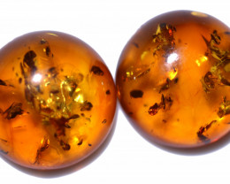 35 Cts Pair Natural  Amber from Poland  code CCC2827