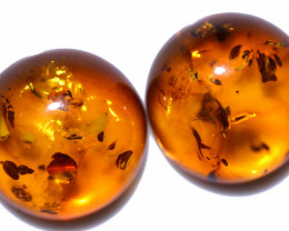 35 Cts Pair Natural  Amber from Poland  code CCC2829