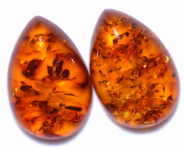 26 Cts Pair Natural  Amber from Poland  code CCC2832