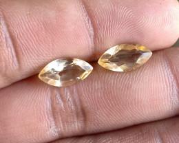 Citrine Gemstone Pair 100% Natural Gemstone VA5240