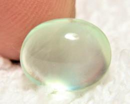 3.5 Carat Vibrant Mint Green Prehnite Cabochon - Gorgeous