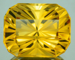 ~CUSTOM CUT~7.77 Cts Natural Golden Orange Citrine Fancy Octagon Brazil