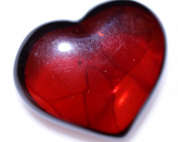 22 Cts Lovers Heart Natural  Amber from Poland  code CCC2864