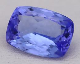 Tanzanite 2.41Ct VVS Flawless Octagon Cut Vivid Blue Tanzanite C2601