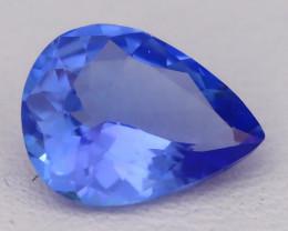 Tanzanite 1.10Ct VVS Flawless Pear Master Cut Vivid Blue Tanzanite C2602