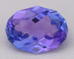 Tanzanite 1.93Ct VVS Flawless Oval Master Cut Vivid Blue Tanzanite C2604
