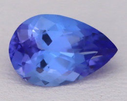 Tanzanite 1.52Ct VVS Flawless Pear Master Cut Vivid Blue Tanzanite C2608