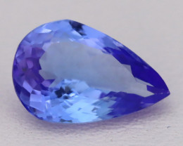 Tanzanite 2.29Ct VVS Flawless Pear Master Cut Vivid Blue Tanzanite C2612