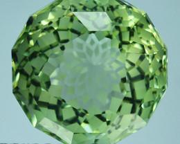~CUSTOM CUT~ 14.23 Cts Natural Prasiolite / Amethyst Fancy Cushion Brazil