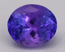 Tanzanite 1.96Ct VVS Flawless Oval Master Cut Vivid Blue Tanzanite C2613