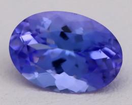 Tanzanite 2.67Ct VVS Flawless Oval Master Cut Vivid Blue Tanzanite C2614