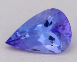 Tanzanite 1.59Ct VVS Pear Master Cut Natural Purplish Blue Tanzanite C2617