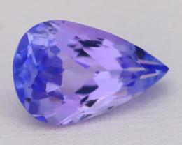 Tanzanite 2.08Ct VVS Flawless Pear Master Cut Vivid Blue Tanzanite C2619