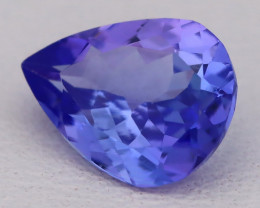 Tanzanite 1.53Ct VVS Flawless Pear Master Cut Vivid Blue Tanzanite C2622