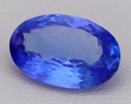 Tanzanite 1.54Ct VVS Flawless Oval Master Cut Vivid Blue Tanzanite C2623