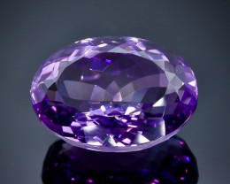 20.77 Crt Natural  Amethyst Faceted Gemstone.( AB 7)