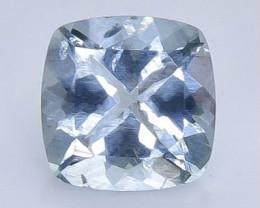 1.90 Crt Natural  Aquamarine Faceted Gemstone.( AB 7)
