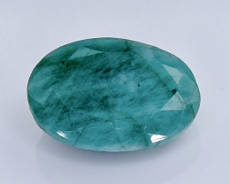 6.30 Crt Natural  Emerald Faceted Gemstone.( AB 7)