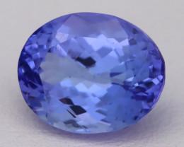 4.89Ct Natural Vivid Blue Tanzanite IF Flawless Oval Master Cut A2701