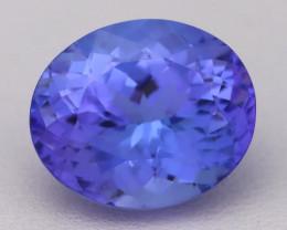 6.61Ct Natural Vivid Blue Tanzanite IF Flawless Oval Master Cut A2704