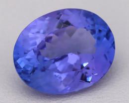 4.89Ct Natural Vivid Blue Tanzanite IF Flawless Oval Master Cut A2705