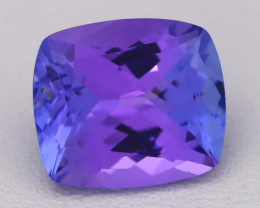 3.67Ct Natural Vivid Blue Tanzanite IF Flawless Octagon Master Cut A2706
