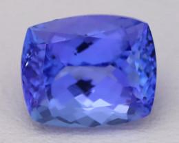 4.48Ct Natural Vivid Blue Tanzanite IF Flawless Octagon Master Cut A2710