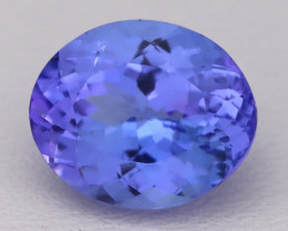 5.69Ct Natural Vivid Blue Tanzanite IF Flawless Oval Master Cut A2713