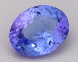 6.02Ct Natural Vivid Blue Tanzanite IF Flawless Oval Master Cut A2714