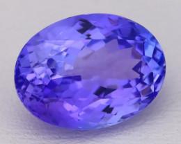 5.78Ct Natural Vivid Blue Tanzanite IF Flawless Oval Master Cut A2715