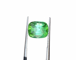 Bi Color Green Tourmaline Cut Stone