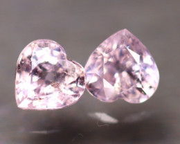 Unheated Sapphire 1.52Ct 2Pcs Natural Heart Shape Pink Sapphire E0101/B32