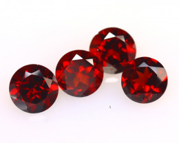Almandine 4.24Ct 4Pcs Natural Vivid Blood Red Almandine Garnet E0114/B3
