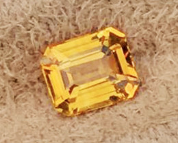 1.47 CT SAPPHIRE YELLOW 100% NATURAL ONLY HEATED AIG CERTIFIED