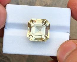 8.60 Ct Natural Yellow Transparent Citrine Gemstone